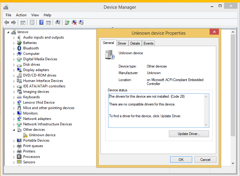 Acpi Compliant Embedded Controller Driver Download Lenovo