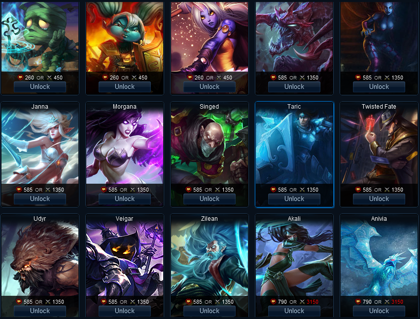 league of legends how to unlock all champions
