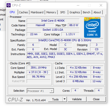 Help i can't overclock i5 4690k on Asrock H97M ITX / ac