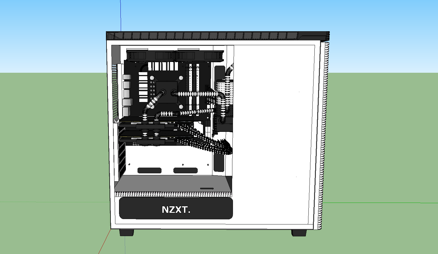 Project Whiteout Nzxt H440 Rigid Water Cooled Petg