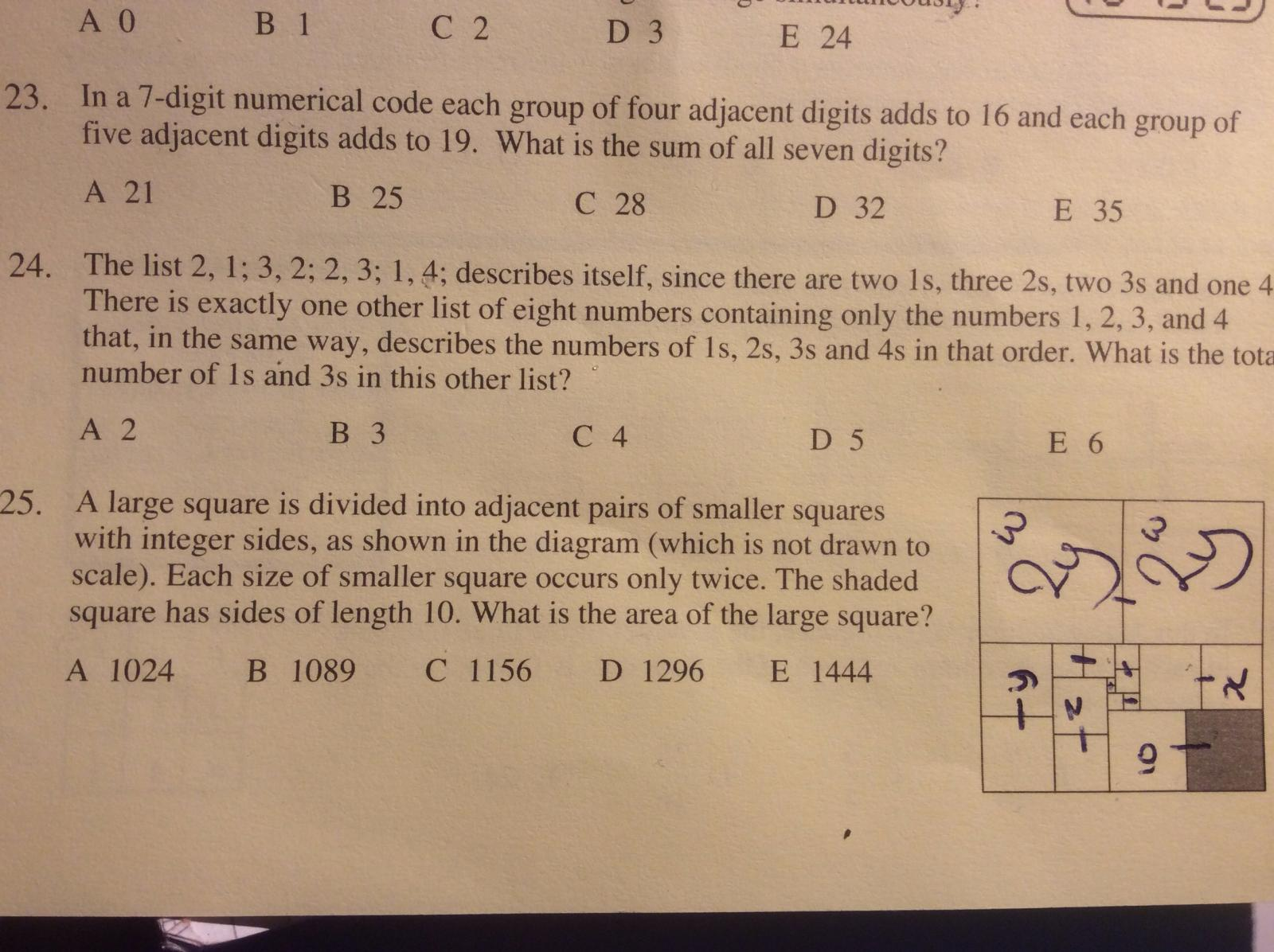 Ukmt Junior Maths Challenge Past Papers Difficulties Off