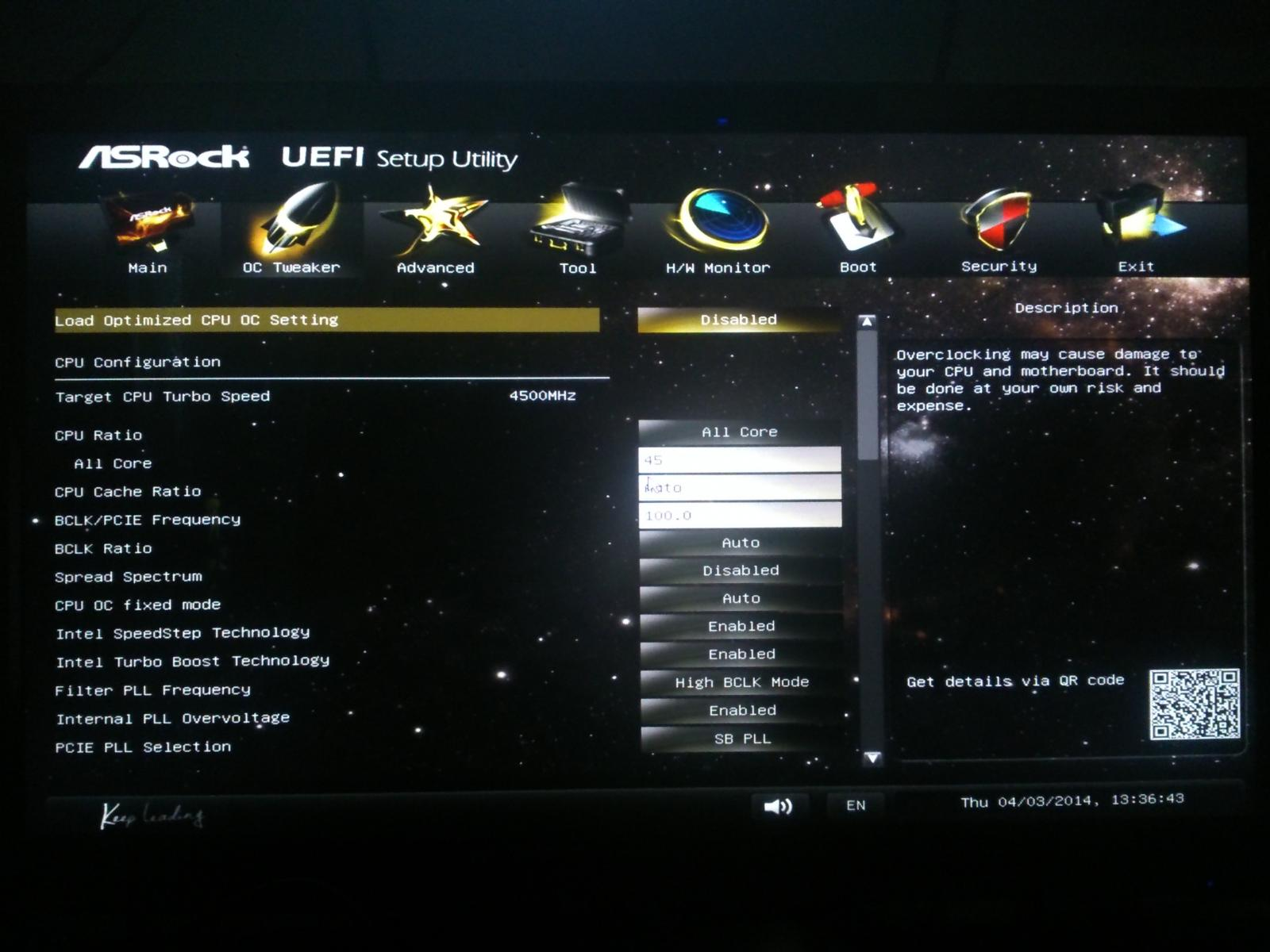 AsRock Z87 Extreme4 & I7 4770K Overclock Help? - CPUs, Motherboards