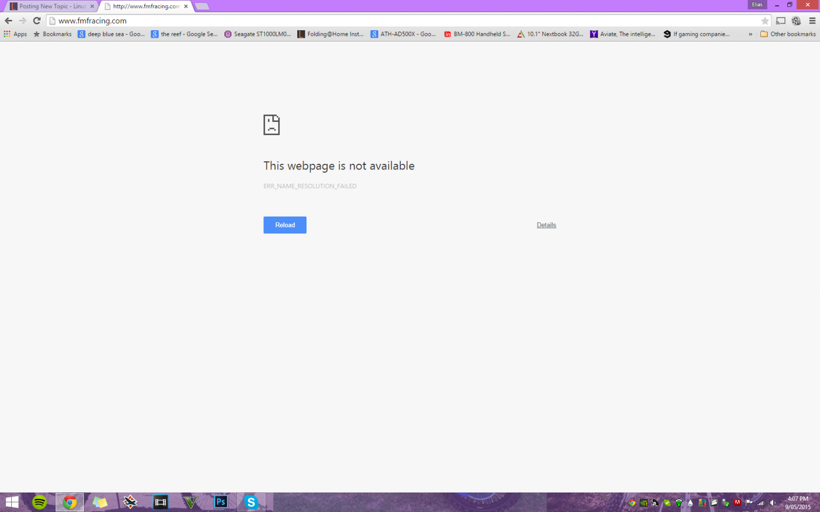 Why can't i go on this certain website? (Google Chrome