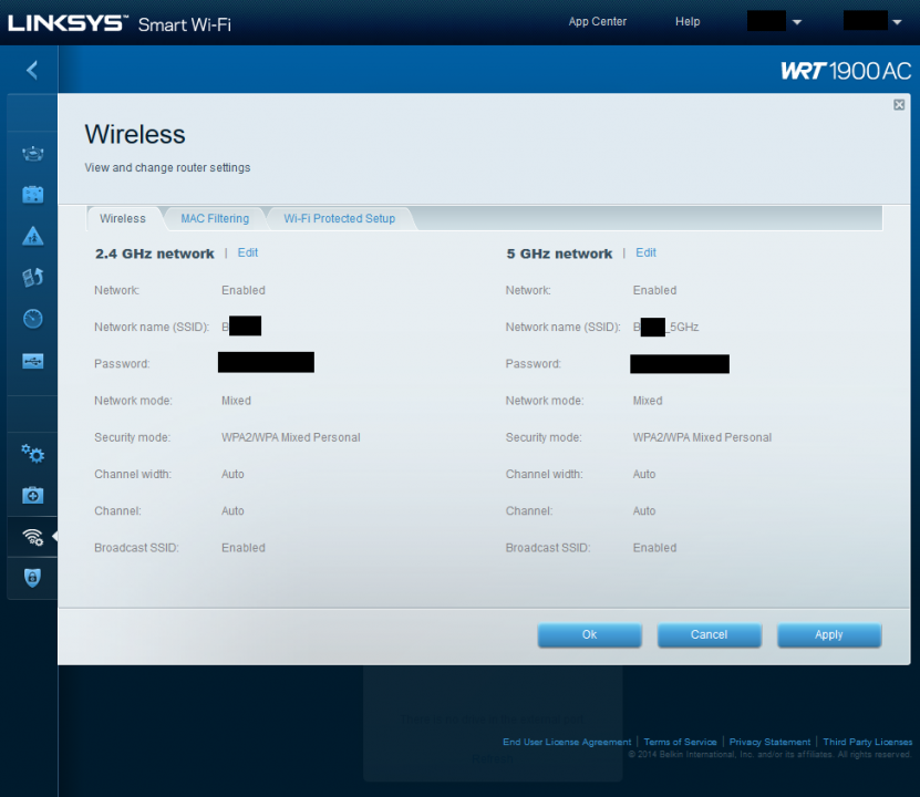 how to change wifi channel on my linksys ac1900 router