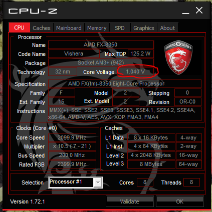 Problems with fx-8350/msi 970 gaming - Troubleshooting