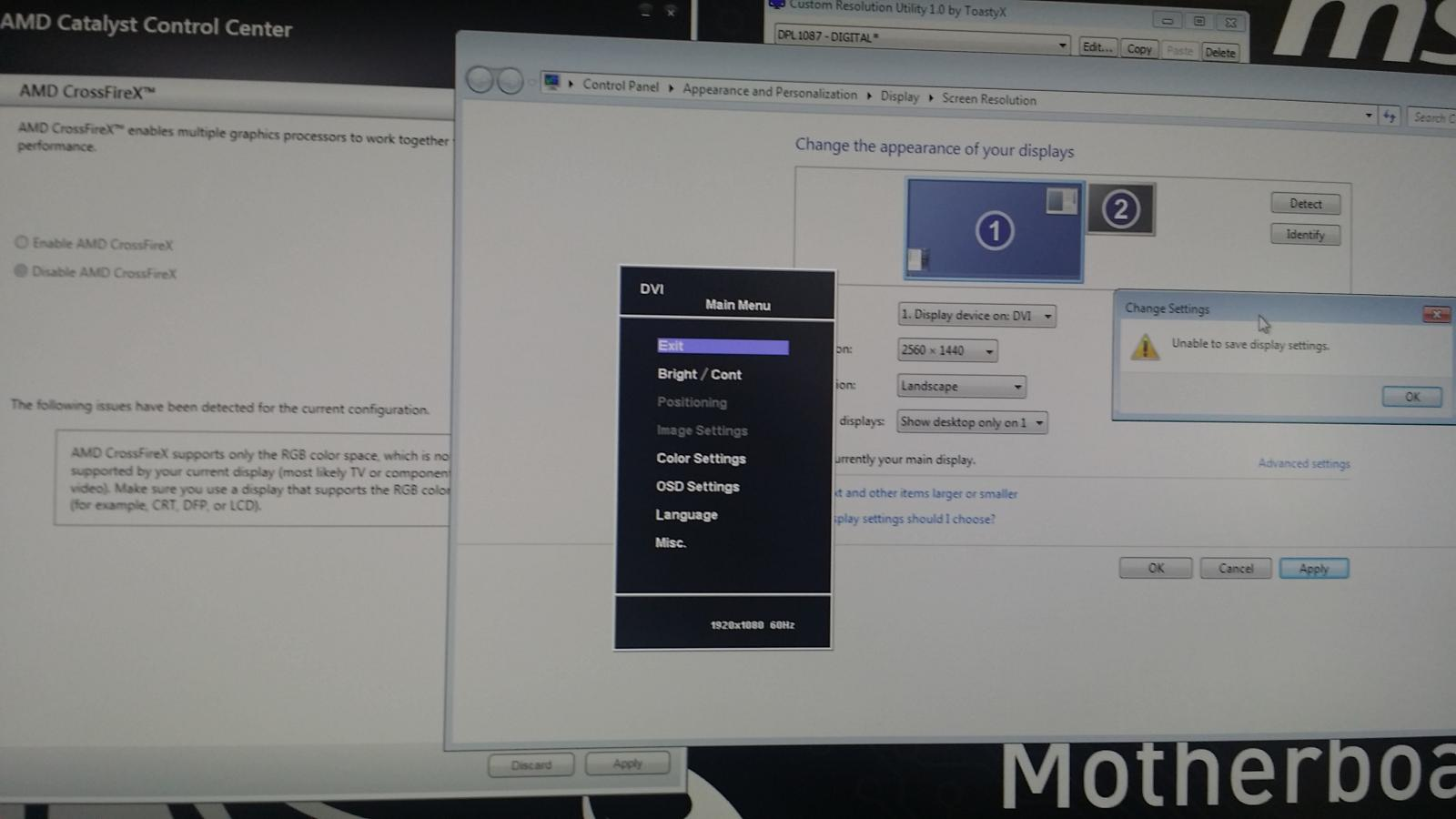 Overclocking messed up my monitor - Troubleshooting - Linus
