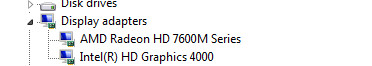how to change to graphics card in obs