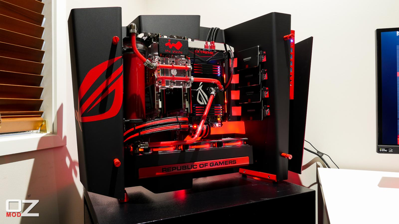 In Win S Frame Aggresive Rog Build Build Logs Linus