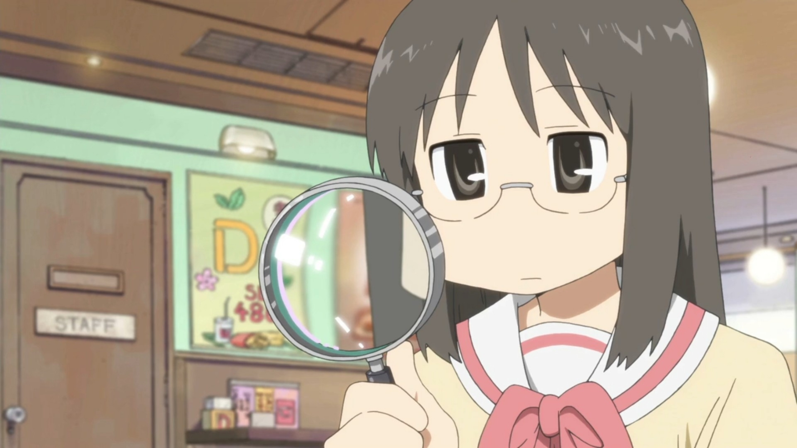 Image result for anime reading with a magnifying glass