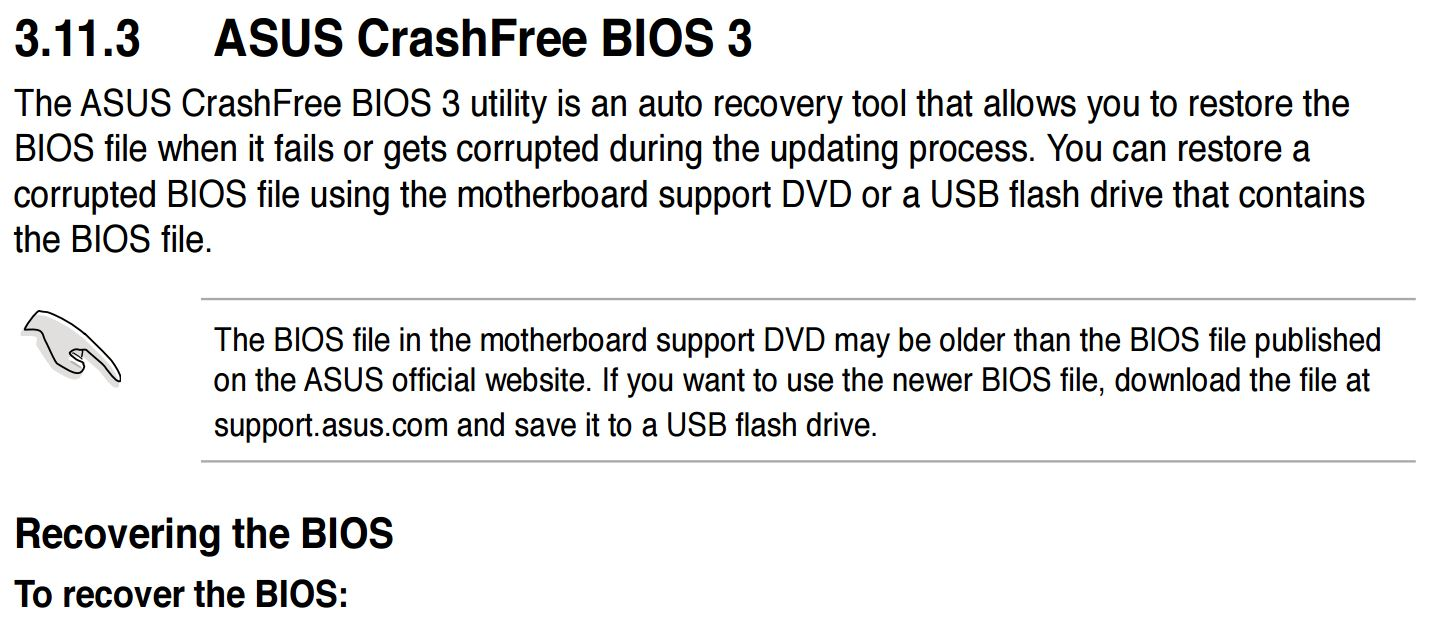 Asus Bios Recovery