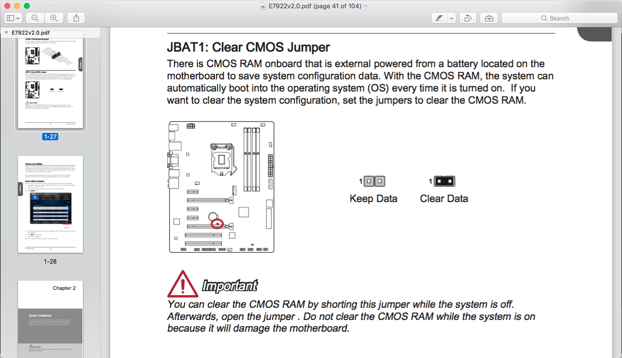 No CMOS jumper plastic? - CPUs, Motherboards, and Memory