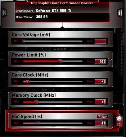 msi afterburner fan control ,cant get it to work - Graphics Cards