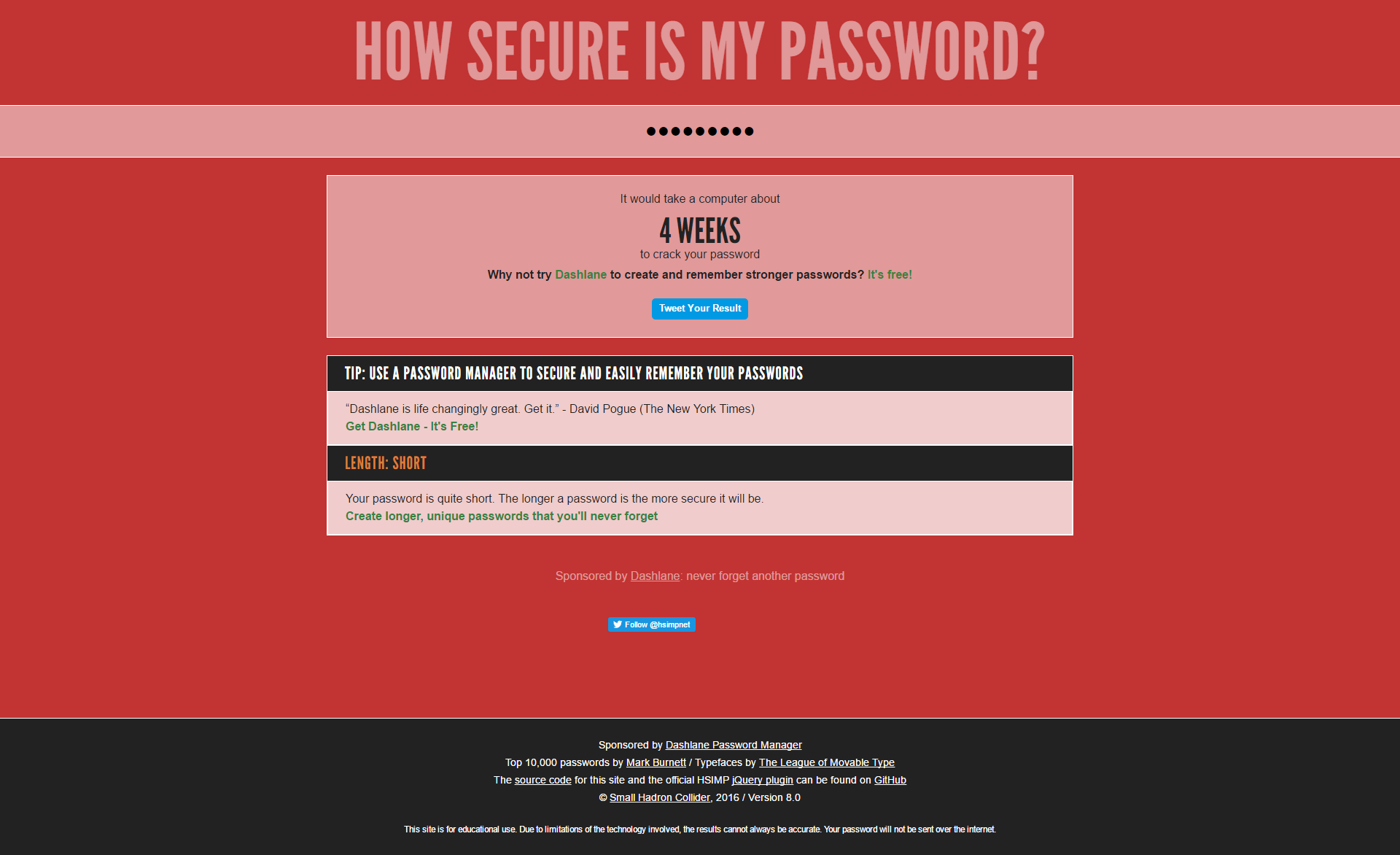 Acceptable Pseudo Password Length? - Programs, Apps and