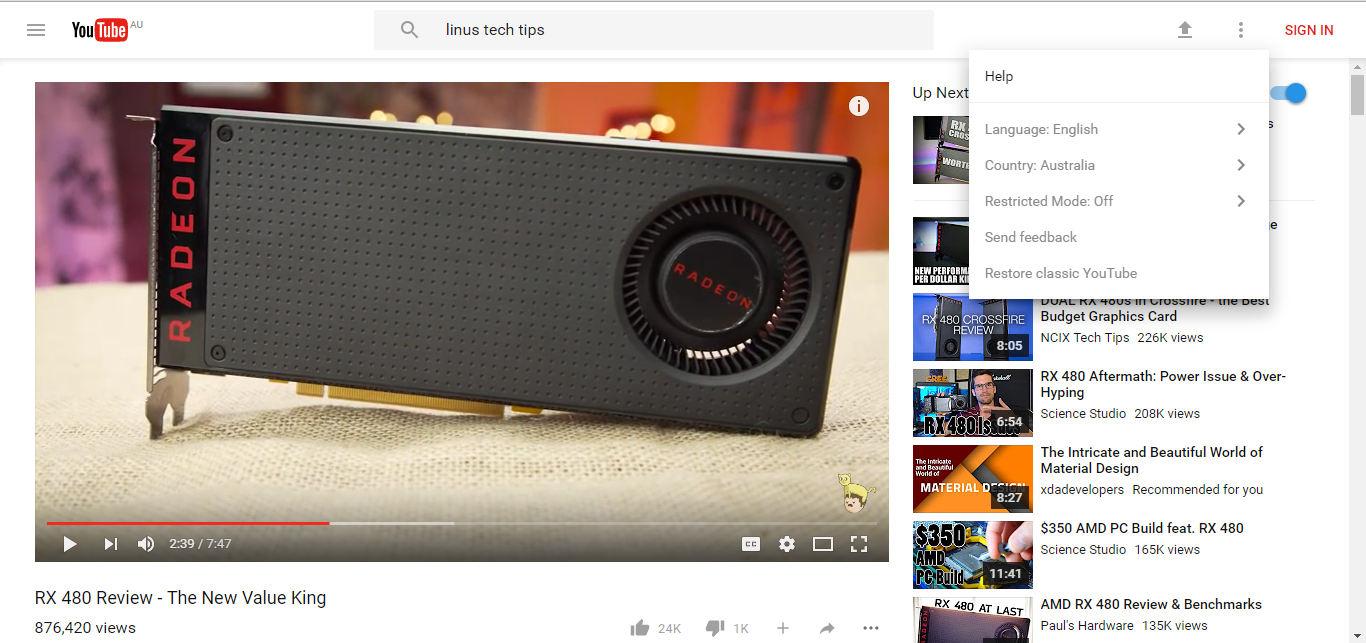 Is Google playing around with YouTube UI designs? - Programs