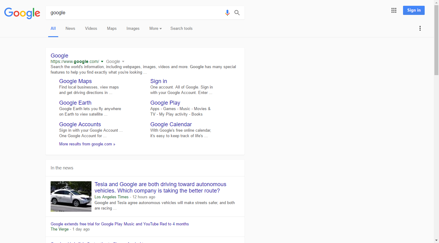 Has anyone else encountered Google with material design