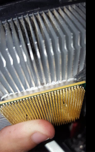 Cpu Melted Into Heatsink Cpus Motherboards And Memory