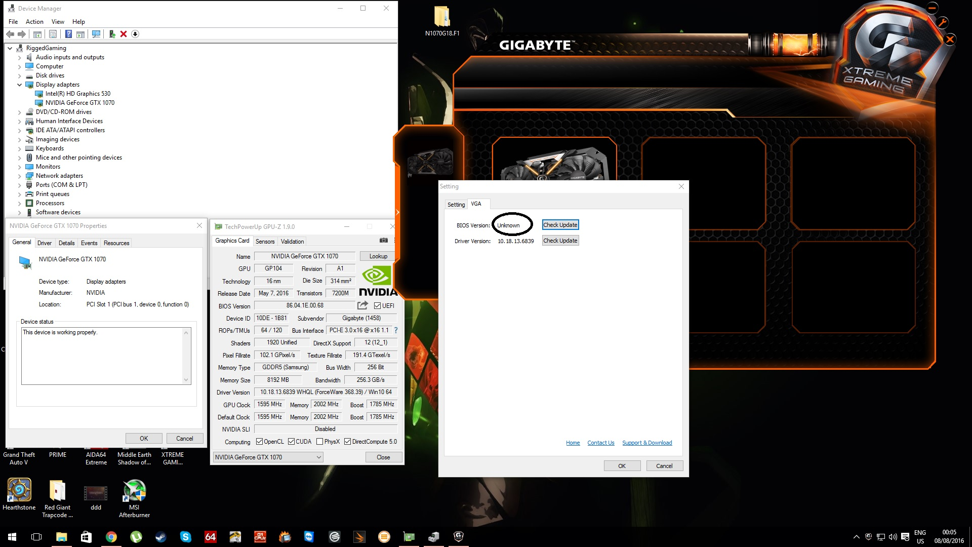 GTX 1070 black screen after bios UPDATE, please HELP :( - Graphics