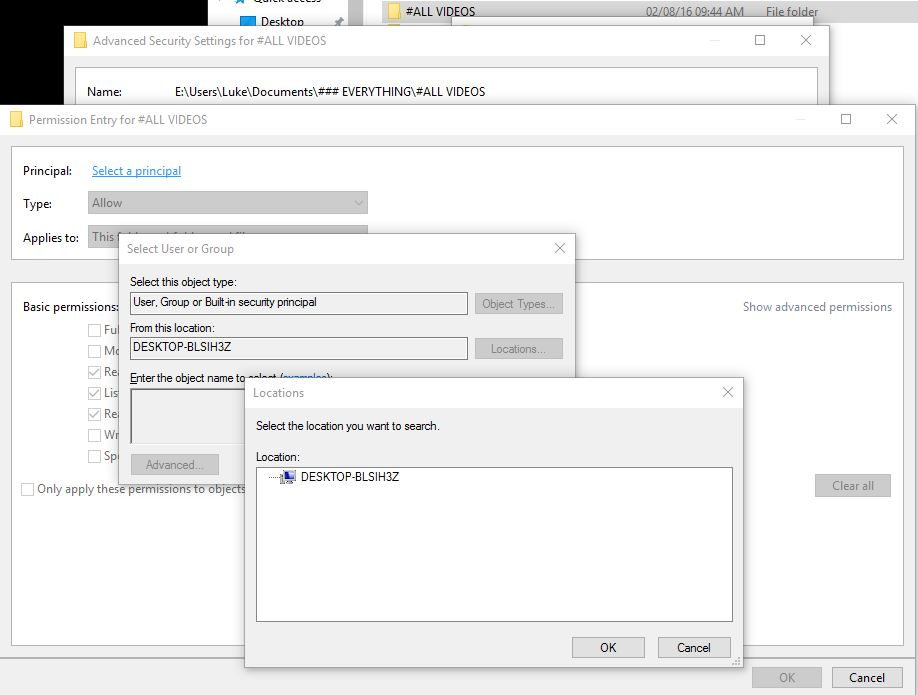 Allowing access of a user on other pc to a Windows SMB share