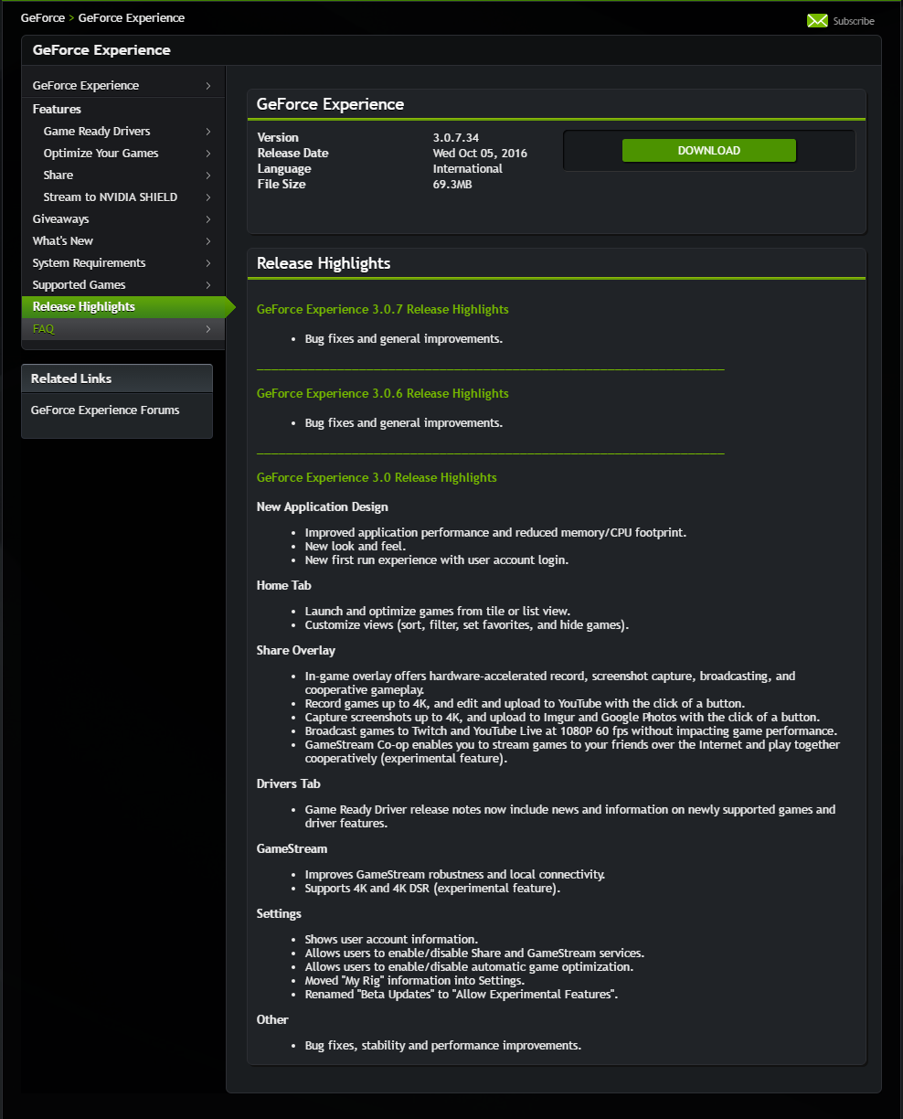 The new Nvidia Geforce Experience is here  And it requires you to