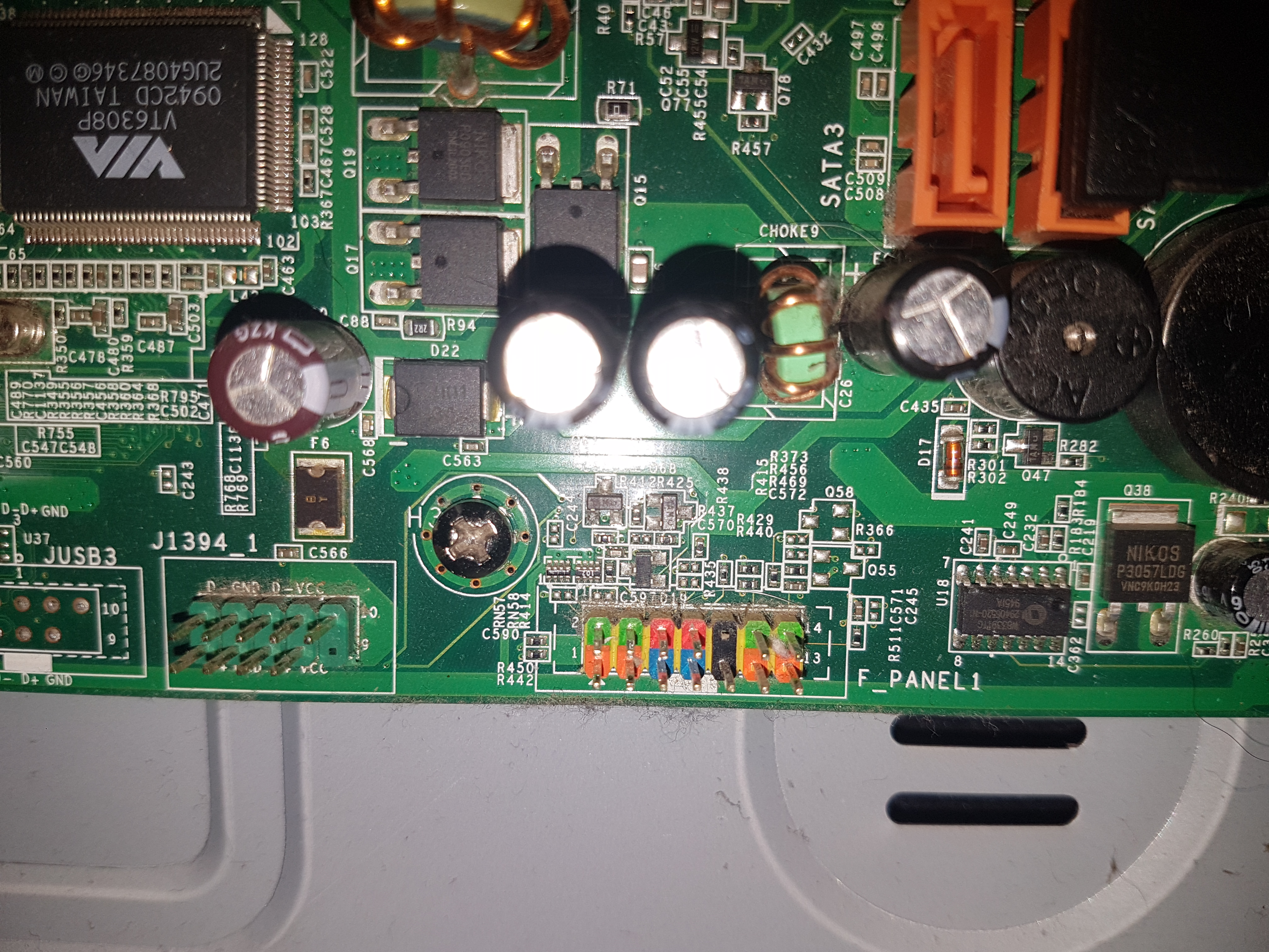 Acer Aspire M1800 MOBO Front Panel Pins - CPUs, Motherboards, and
