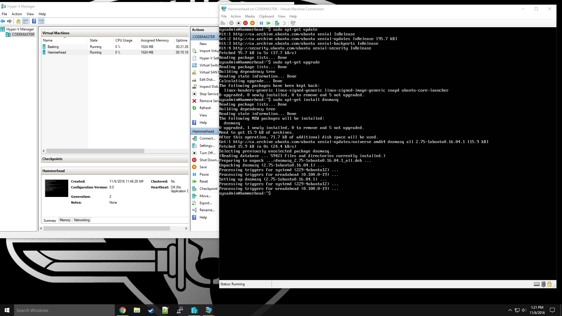 Changing Ubuntu Server Console size in Hyper-V - Servers and