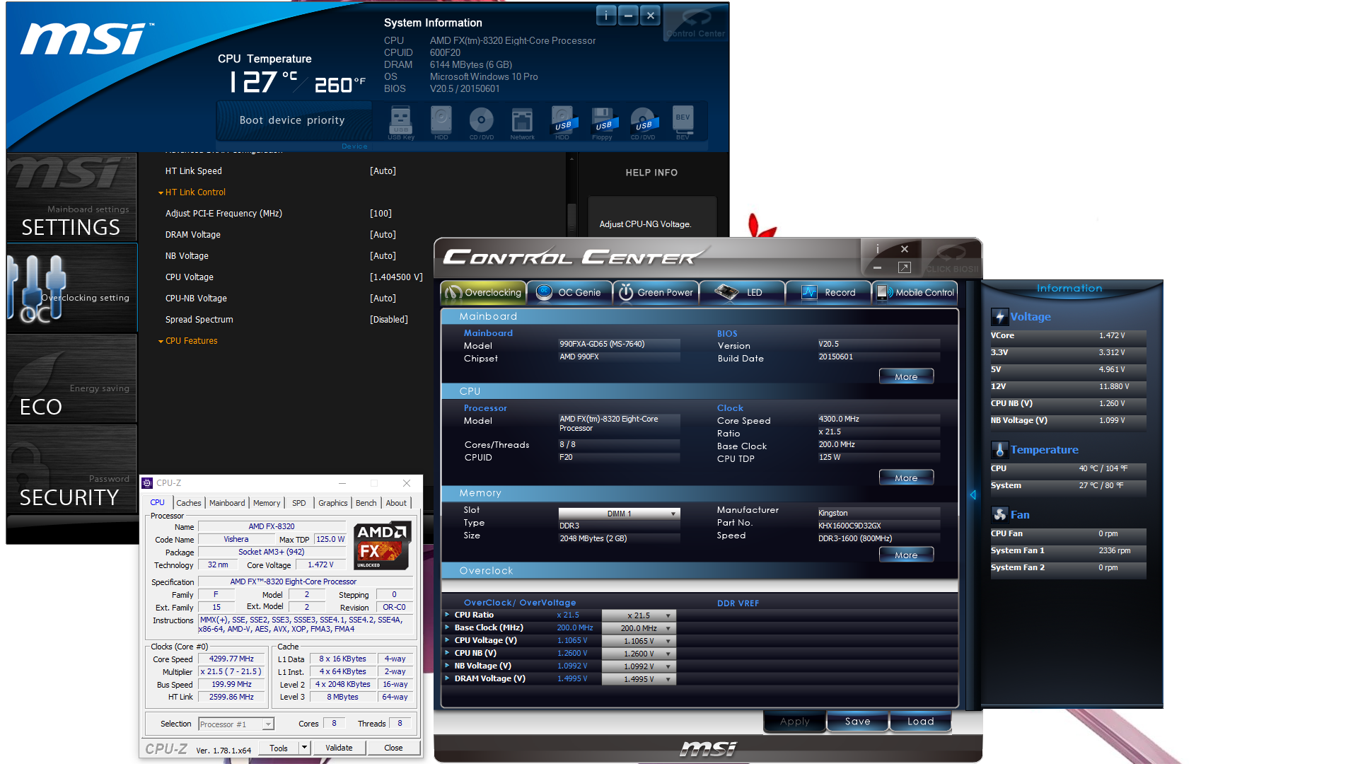 msi motherboard control software