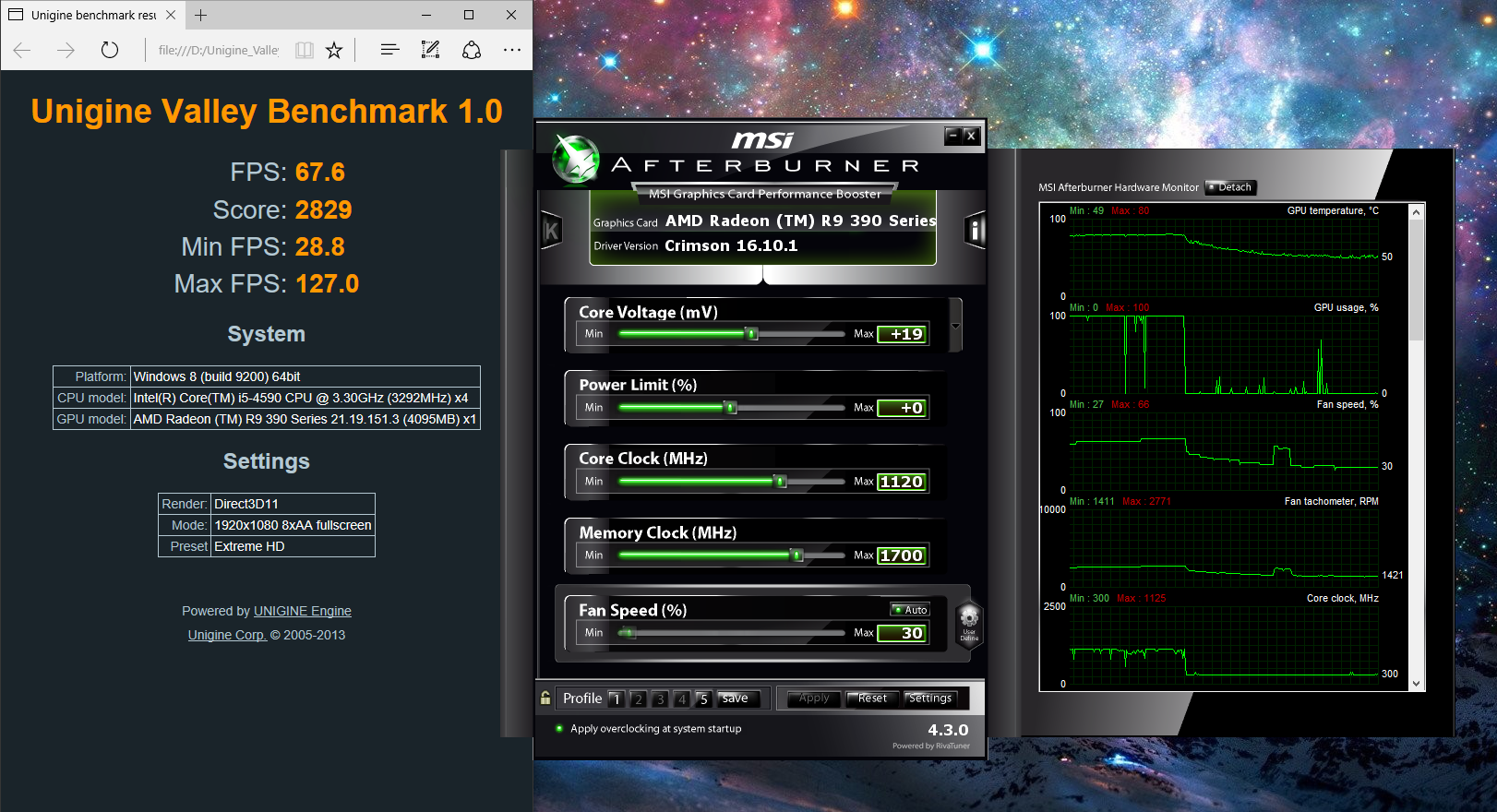 I tried overclocking my R9 390 for the first time