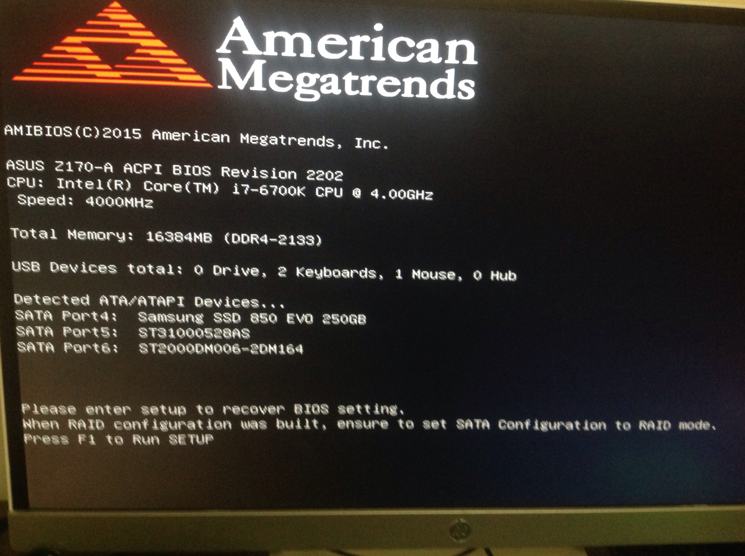 My PC is stuck on the American mega trends screen! - CPUs