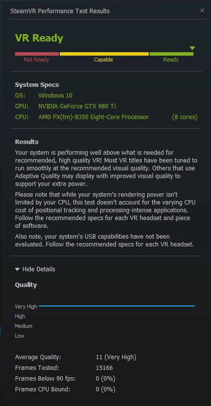 Post your SteamVR Performance Test results here - Page 216