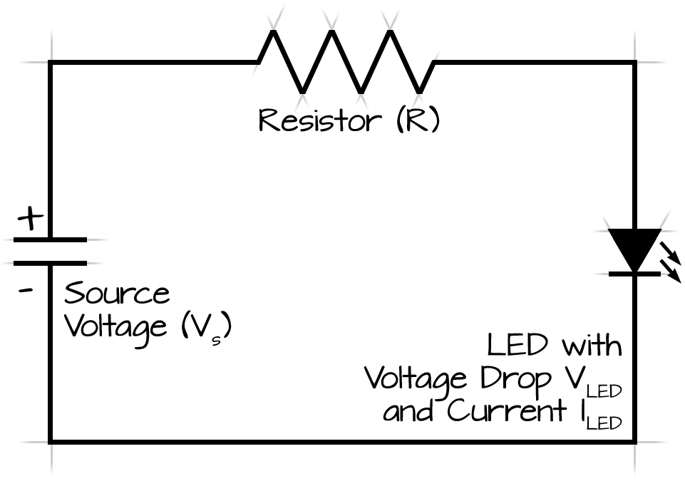 what would i need to power 5 leds