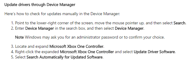 Need to reinstall Xbox One controller driver on Windows 10