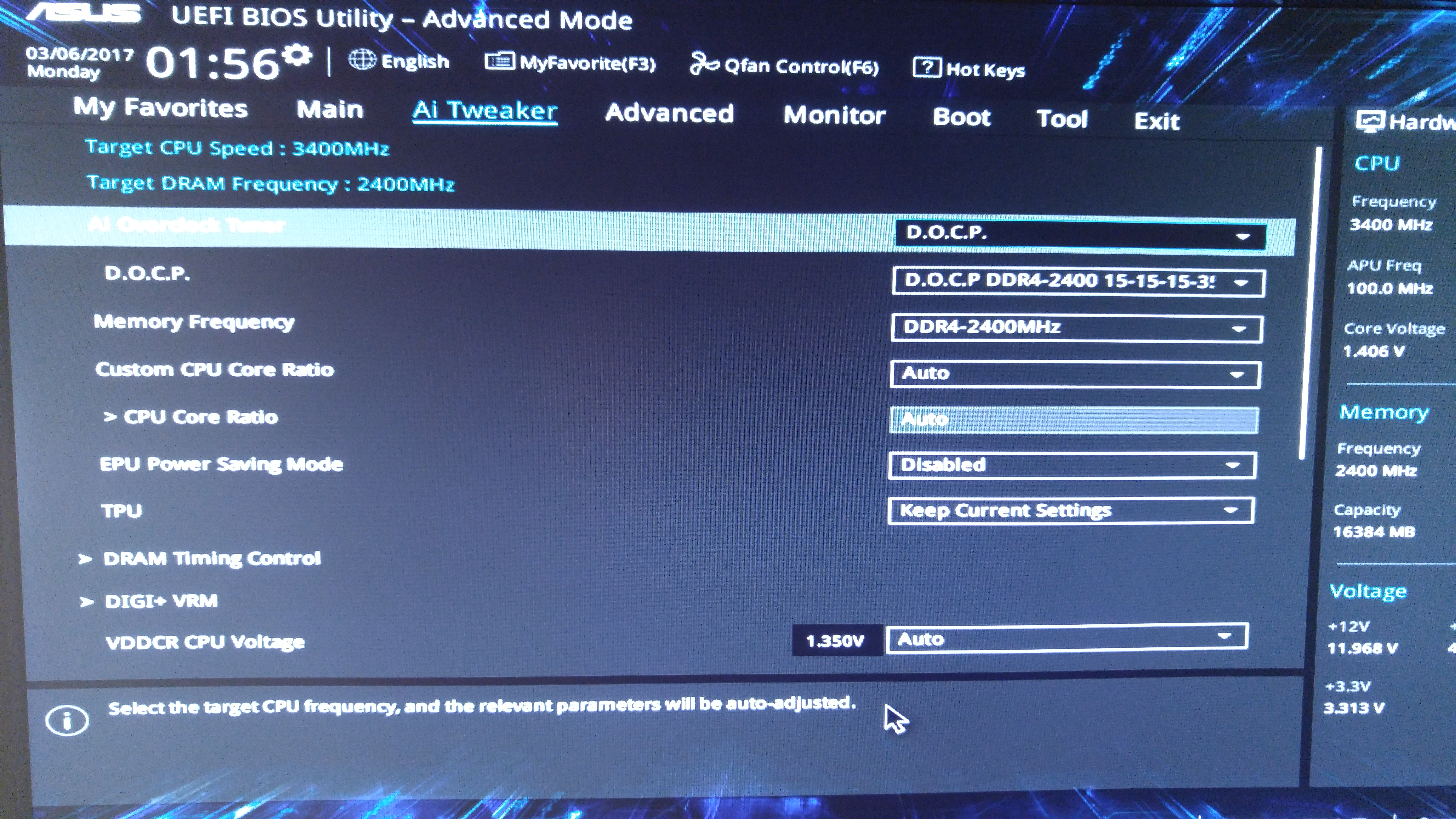Bios issues on the on Asus X370 Pro Board (3/3/17) - CPUs