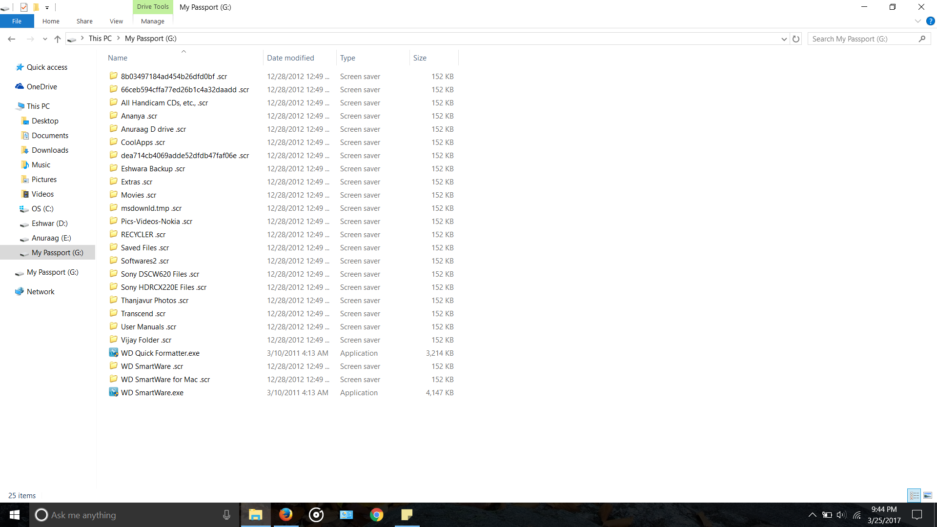 ALL FOLDERS ON MY EXTERNAL HARD DISK CHANGED TO  SCR - Operating
