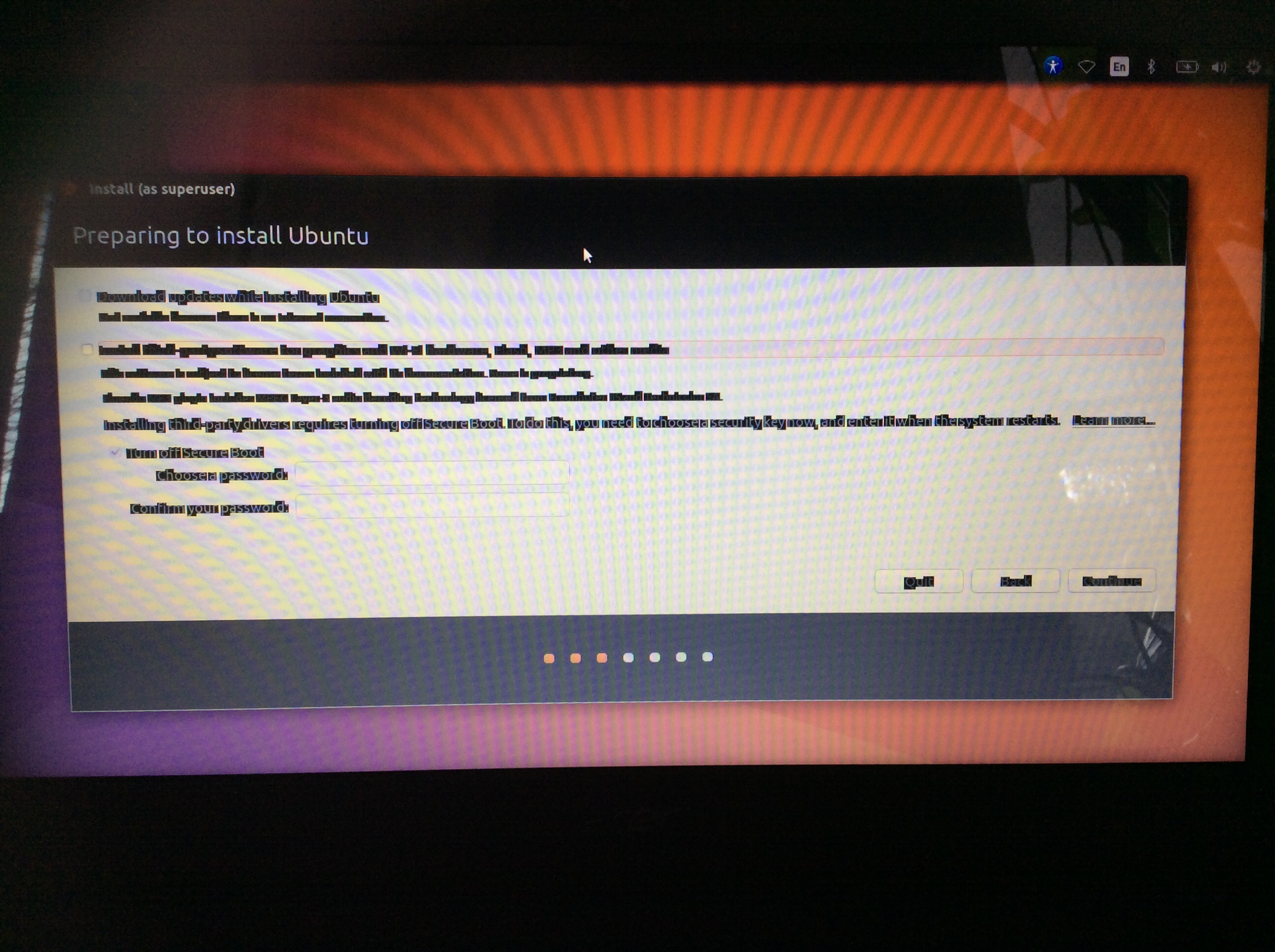 Messed up text when trying to install Ubuntu  (HELP