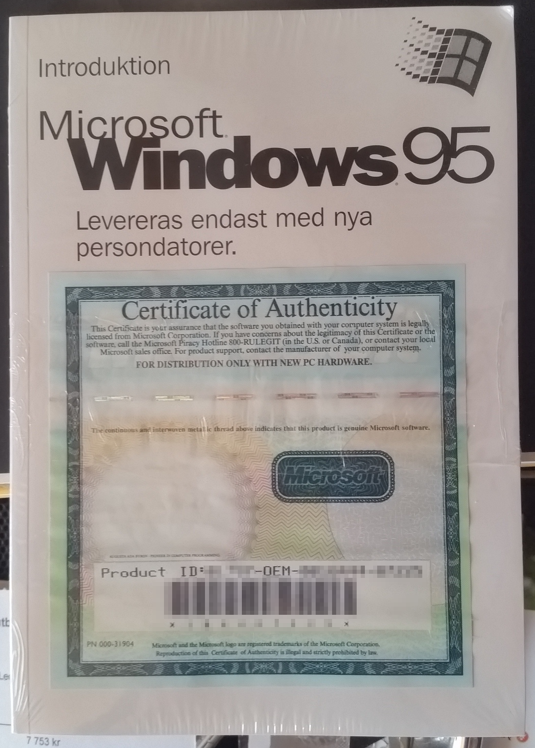 How Much Is A Windows 95 Certificate Of Authenticity Worth Windows