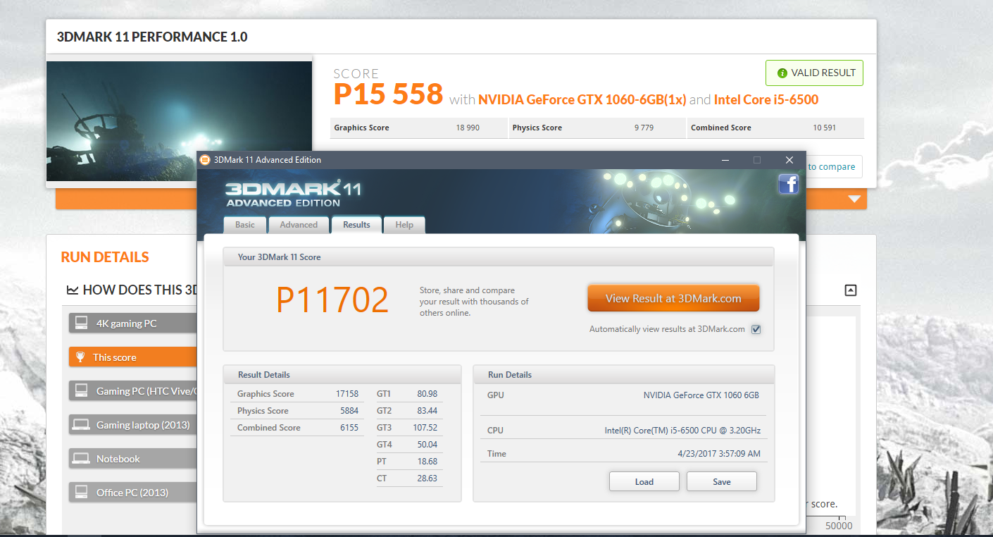 Different benchmark scores  - Cases and Power Supplies