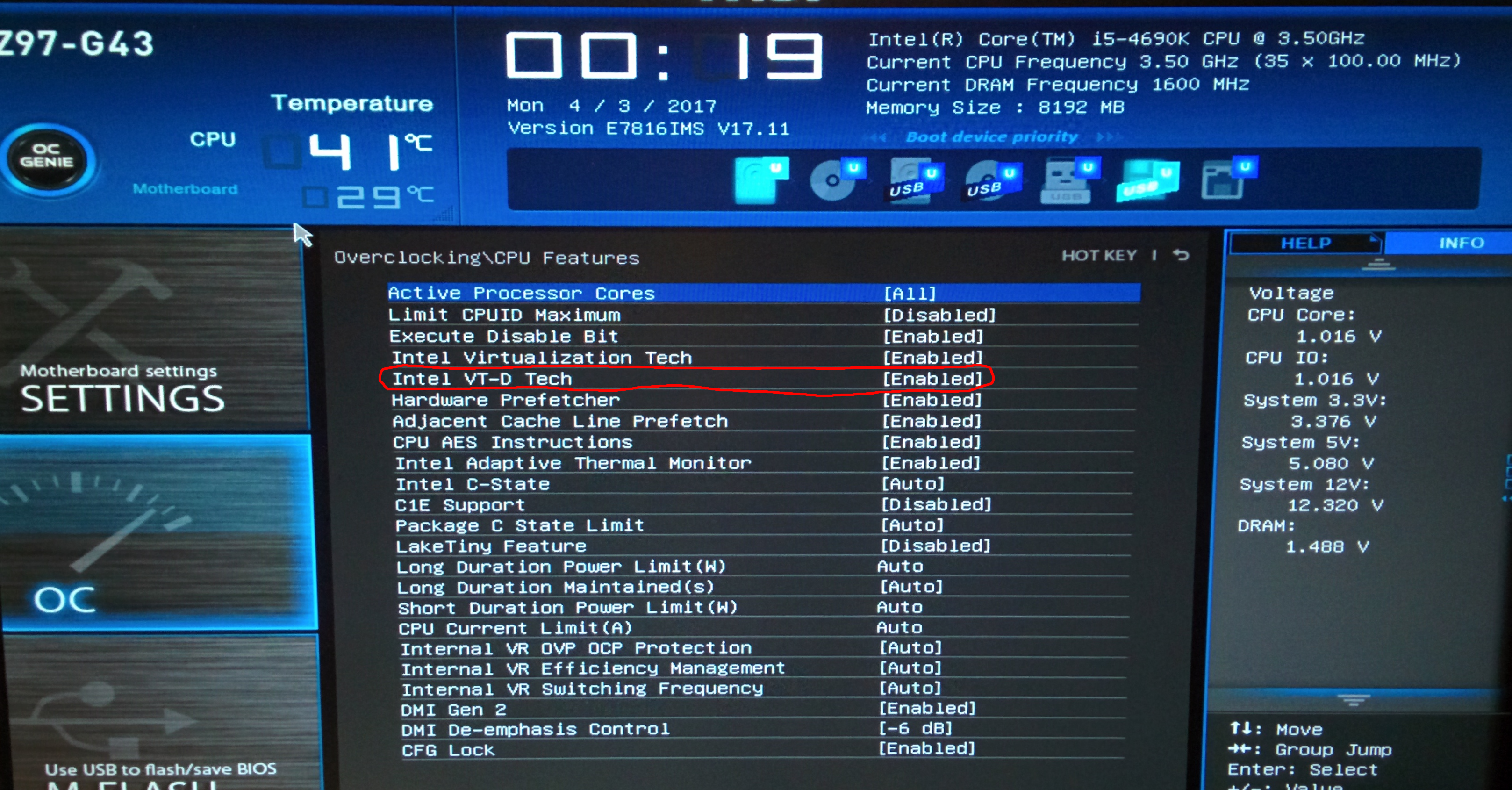 Does this mean that my motherboard has VT-D (IOMMU) support