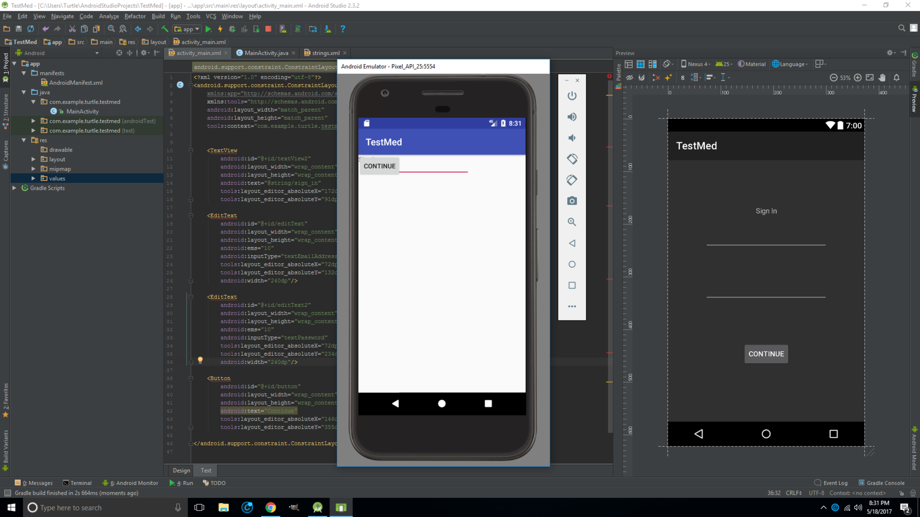 Android Studio Design View Missing