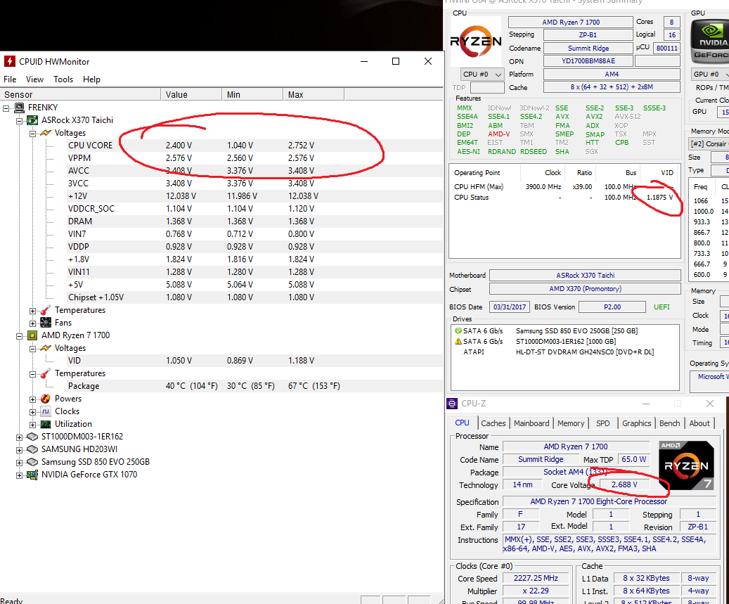 Ryzen 1700 vcore way too high?? - CPUs, Motherboards, and Memory