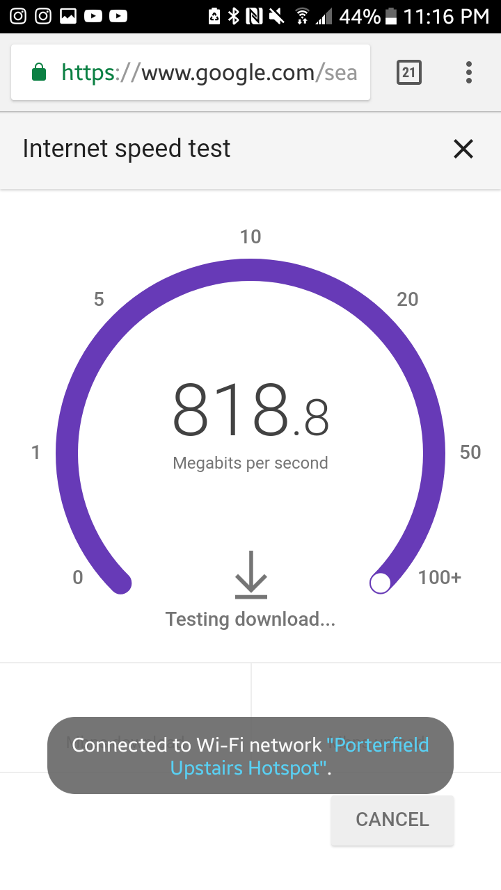 Is the Google internet speed test reliable? - Networking ...