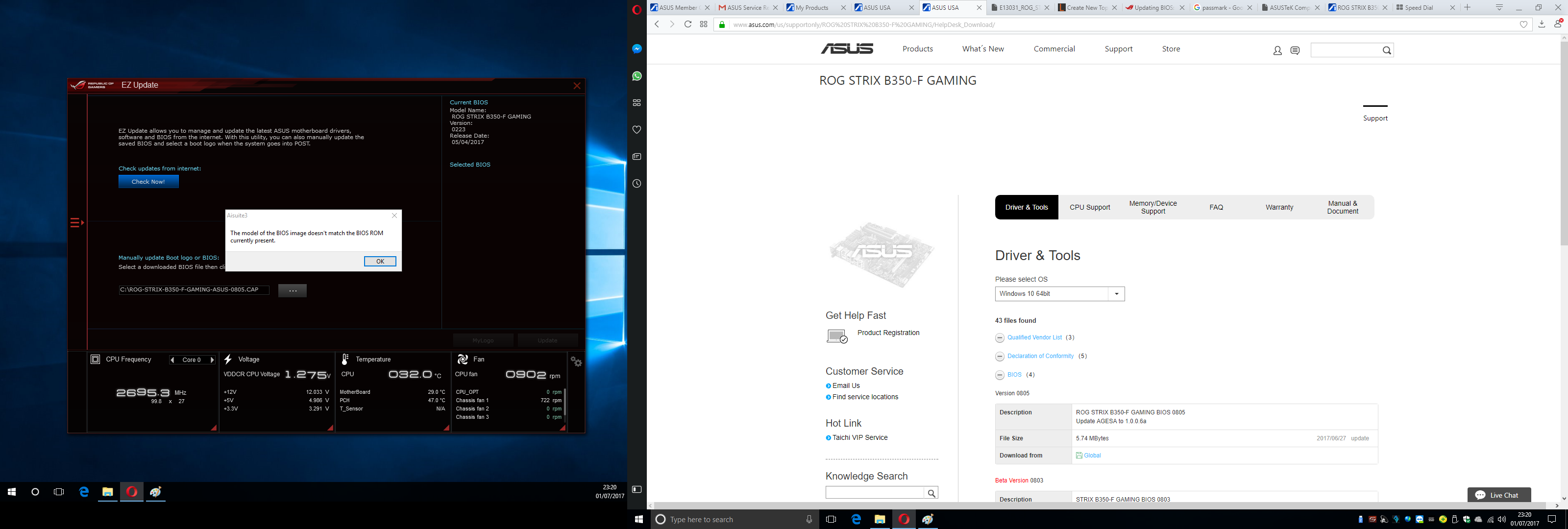 Can't update BIOS for ASUS Strix B350-F Gaming - CPUs, Motherboards