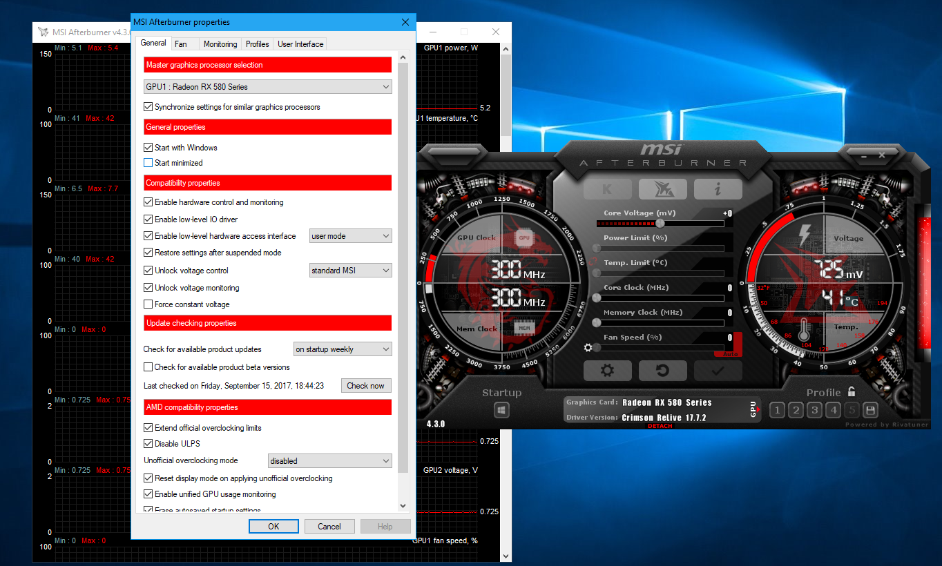 MSI Afterburner settings locked (greyed out/disabled