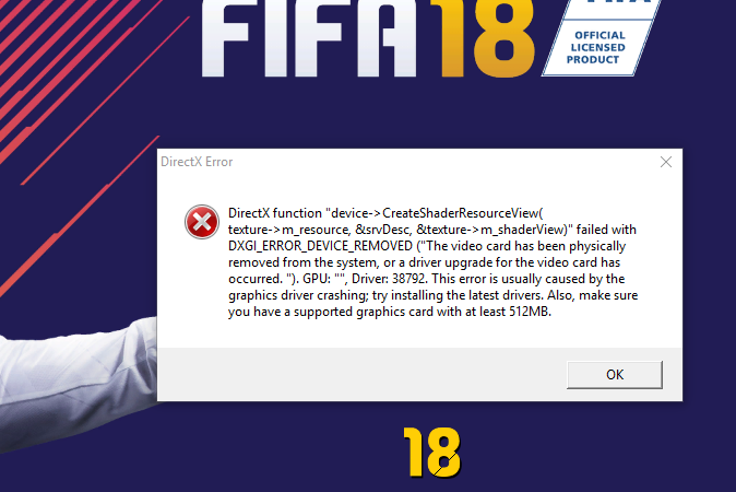 Fifa 18 graphics driver error - PC Gaming - Linus Tech Tips