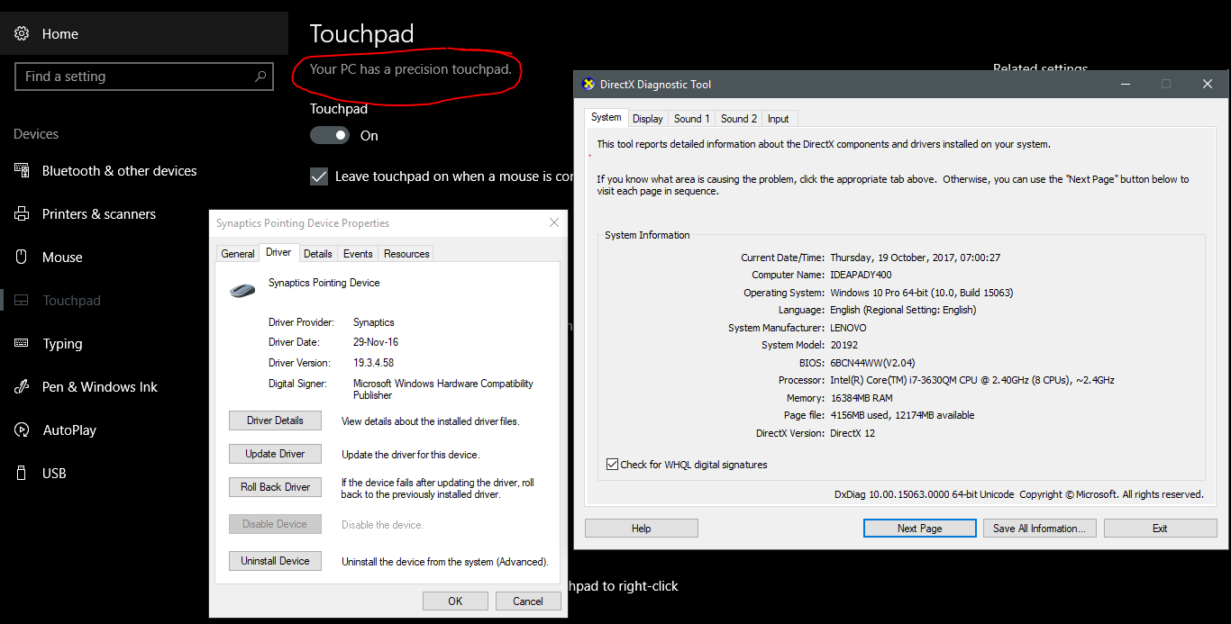 Windows 10 Precision Touchpad drivers on any laptop