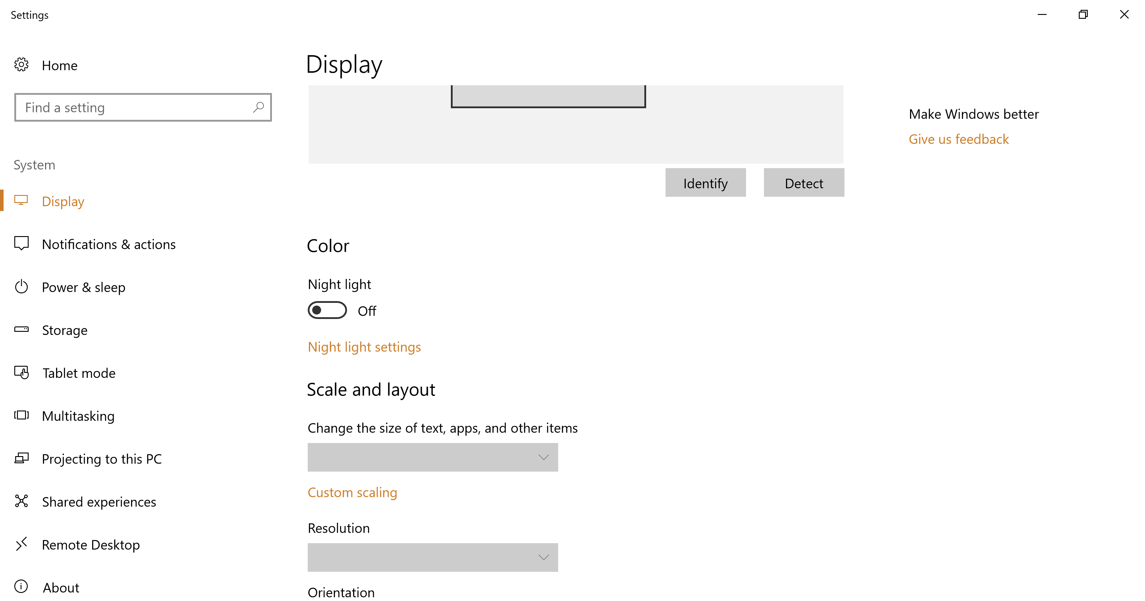HDR and Advance Color option greyed out in Windows 10 on TCL