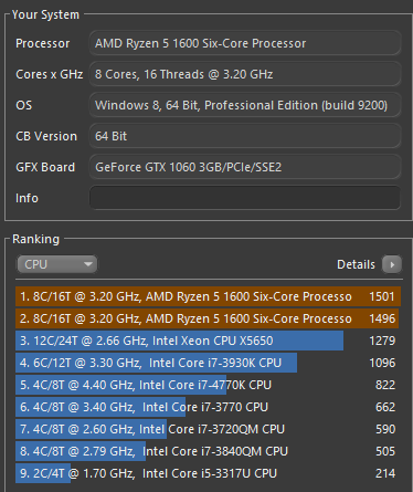 My Ryzen5 1600 has 8 cores 16 threads ! - CPUs, Motherboards, and