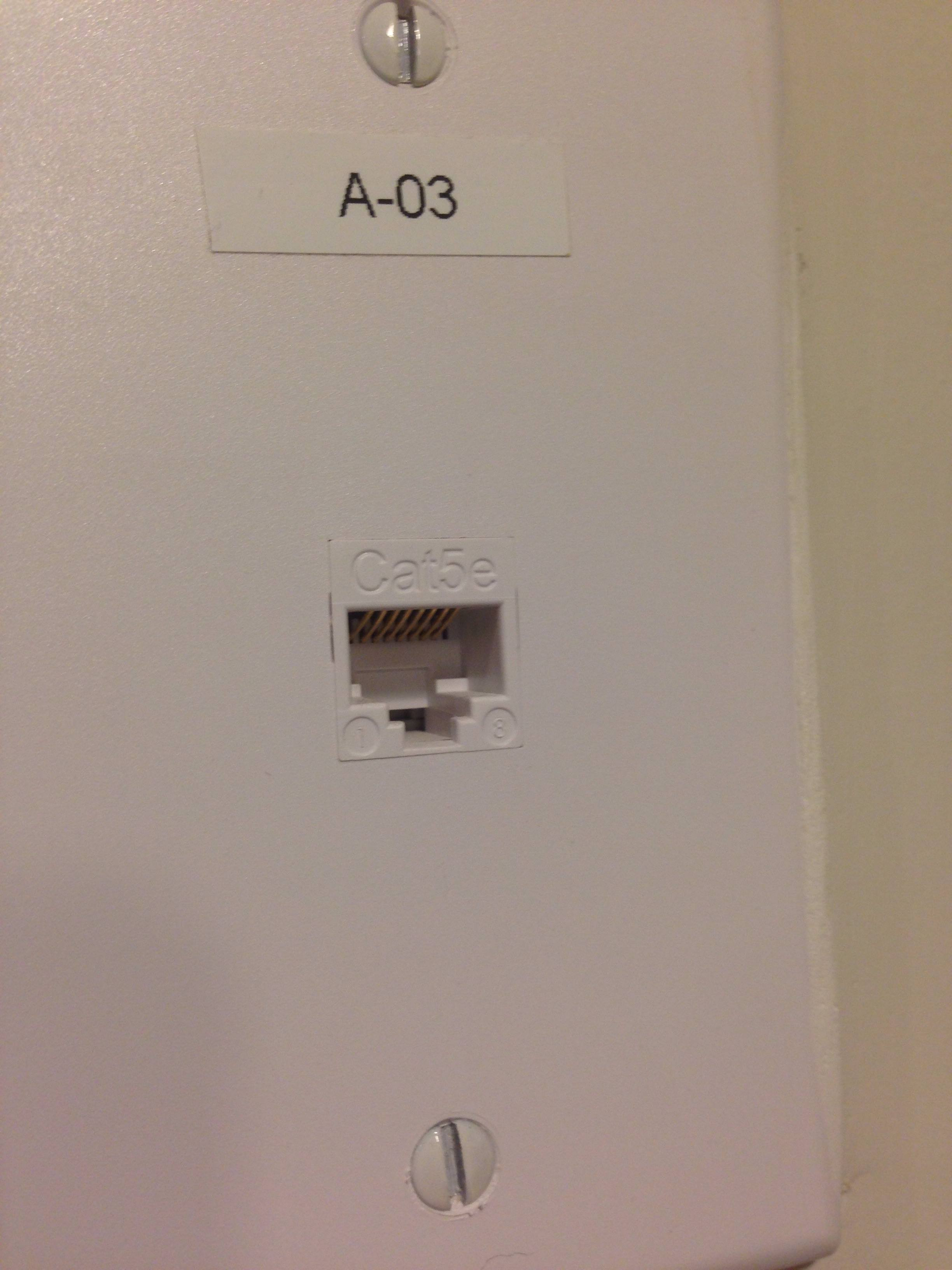 wondering why this ethernet wall wiring a 15 amp outlet