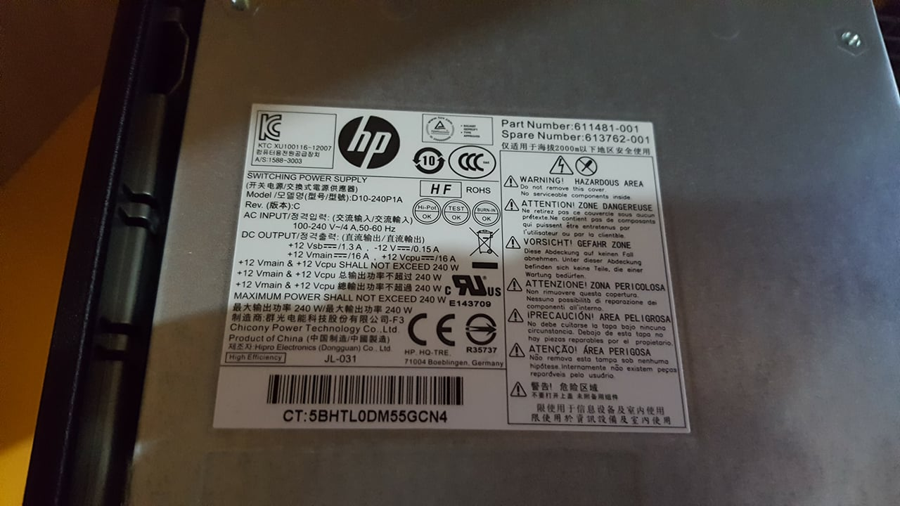 Hp 240W PSU too weak? - Cases and Power Supplies - Linus Tech Tips