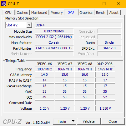Two of the Same RAM sticks running at different speeds