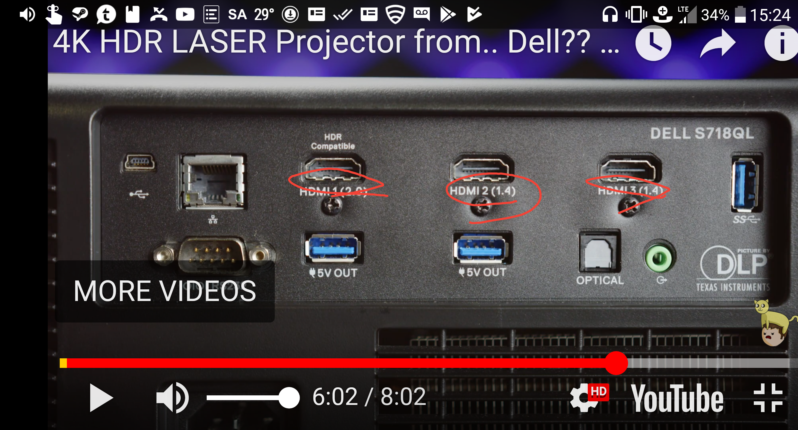 4k Hdr Laser Projector From Dell S718ql Review Ltt